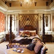 美式风格别墅装修设计效果套图卧室效果图