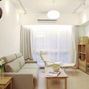 白色清爽日式风格欣赏客厅
