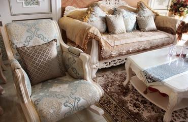 简欧客厅沙发摆放图 大气十足