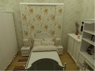美式乡村大四居欣赏卧室背景墙
