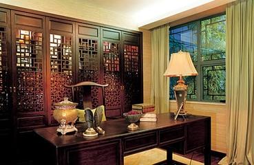 新中式两居室设计欣赏书房背景墙