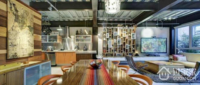 现代彩色丛林住宅欣赏厨房