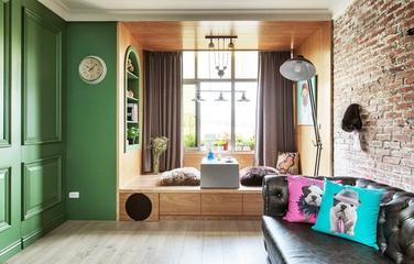 绿色北欧舒适公寓欣赏