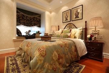 128平奢华欧式住宅欣赏卧室效果图