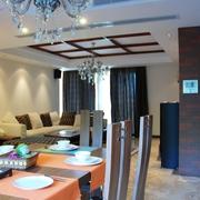 现代风格家居装饰餐厅一景
