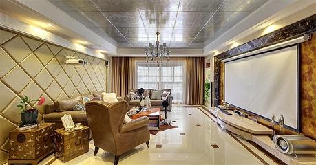 新古典雅致三居欣赏客厅背景墙设计
