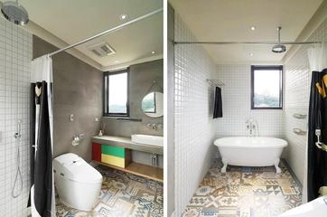 115平现代个性公寓欣赏卫生间