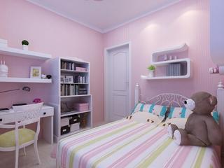74平简约温馨效果图欣赏卧室