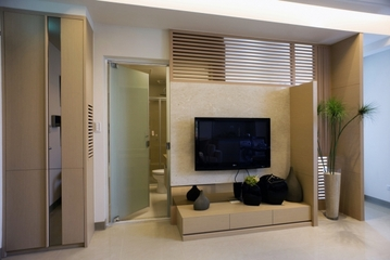 现代简约公寓电视背景墙