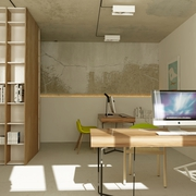 仓库改造的私人公寓欣赏书房设计
