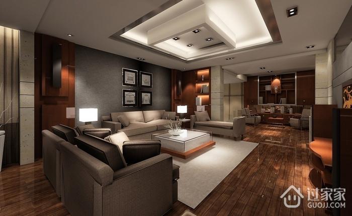 103平简约三居室欣赏客厅效果