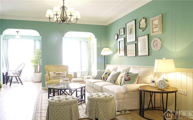 朴素清新的色彩,78平小户型也可选用美式乡村