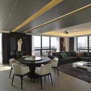现代风三居室设计欣赏餐厅吊顶