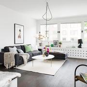 63平白色宜家住宅欣赏客厅效果