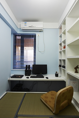 86平简约三室两厅欣赏书房效果图