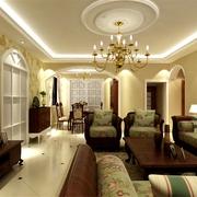 美式风格三室两厅欣赏