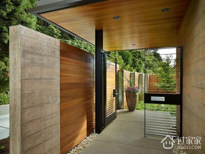 完美融合木质别墅欣赏过道