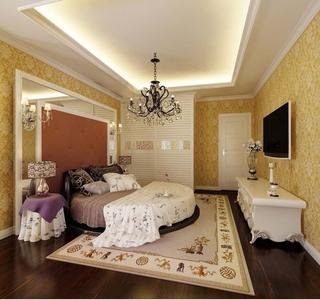 简欧风采三居室欣赏卧室背景墙