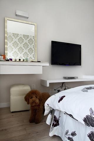 112平现代三室一厅欣赏卧室效果