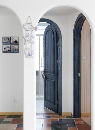 白色地中海两居室欣赏过道室内门