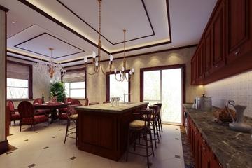 122平奢华欧式效果图欣赏餐厅设计