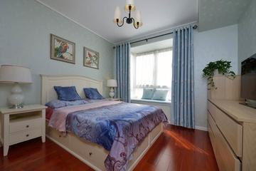 76平白色美式两居室欣赏卧室陈设