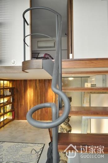 80平米现代复式欣赏楼梯