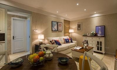 70平米美式温馨两居欣赏客厅