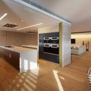 现代风格设计图厨房全景