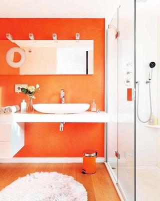 色彩绚烂简约三居室欣赏洗手间