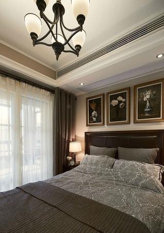 88平美式两居室案例欣赏卧室灯饰