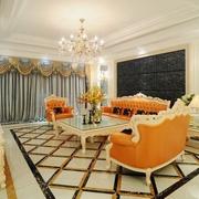 现代精品复式楼欣赏客厅设计