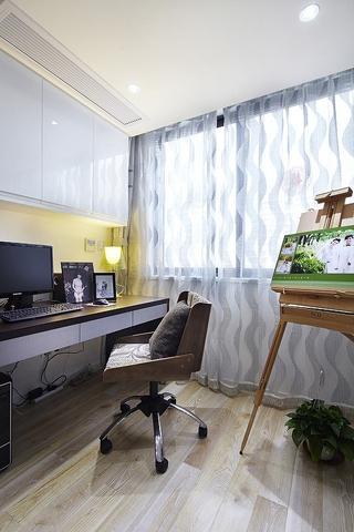 76平白色现代风住宅欣赏书房设计