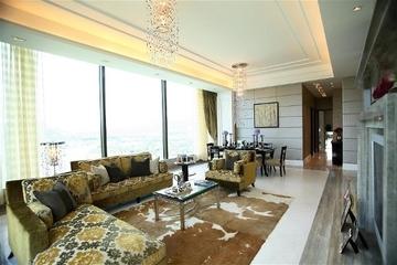 新古典三居室案例设计欣赏客厅窗户