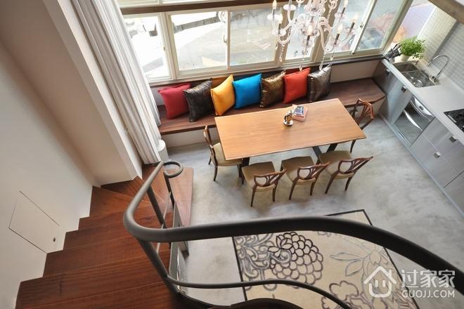 80平米现代复式欣赏楼梯间