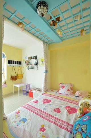77平浪漫地中海住宅欣赏卧室陈设