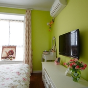 温馨美式卧室电视柜效果图 80后美美的家