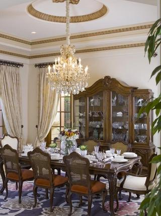 豪华法式风格装饰套图餐厅橱柜