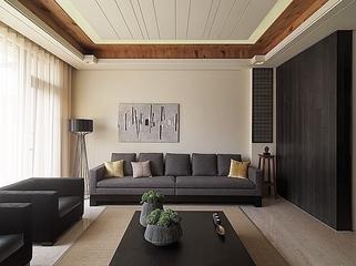 出彩简约三居案例欣赏客厅背景墙