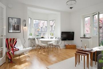 55平白色宜家公寓欣赏