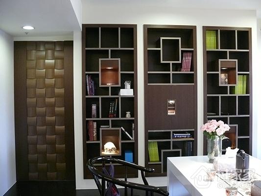 简约色彩缤纷空间设计书房过道
