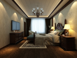 田园风情住宅欣赏卧室效果