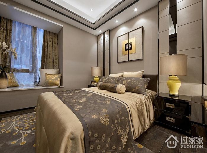 中式风格温馨卧室飘窗