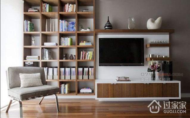 怎样设计书架电视墙