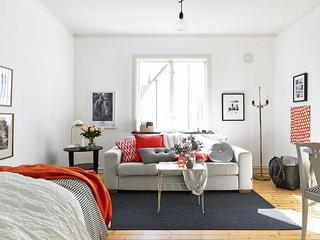 37平白色宜家单身公寓欣赏