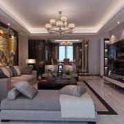125平时尚新中式四居室装修案例
