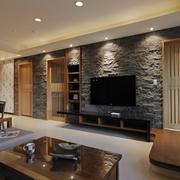 110平日式风格住宅欣赏客厅设计