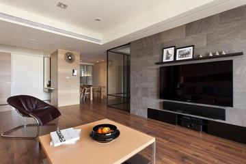 冷硬现代家居 客厅电视背景墙装修效果图
