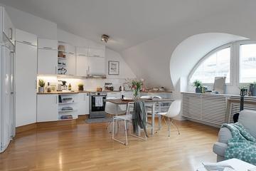 78平北欧住宅欣赏厨房效果