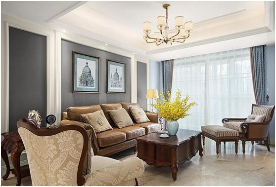 140平美式风格装修实景,卧室改衣帽间真大气